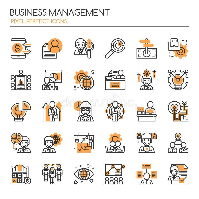业务管理元素 库存例证