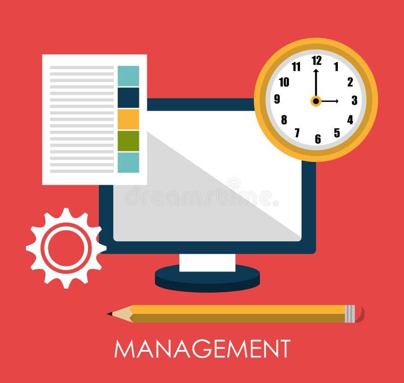 业务管理设计 向量例证