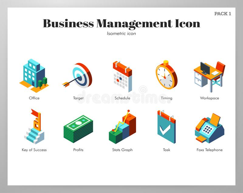 业务管理象等量组装 向量例证