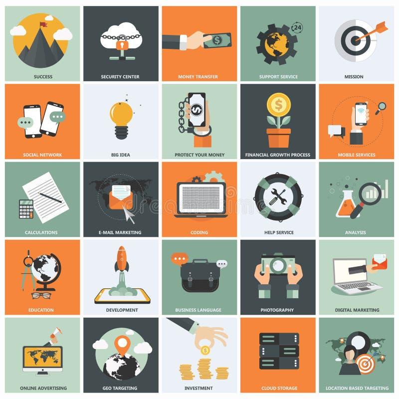 业务管理象集合 向量例证