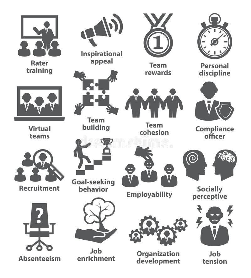 业务管理象 组装21 库存例证
