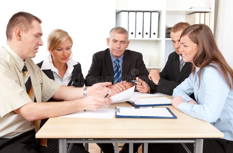 业务组会议 免版税图库摄影