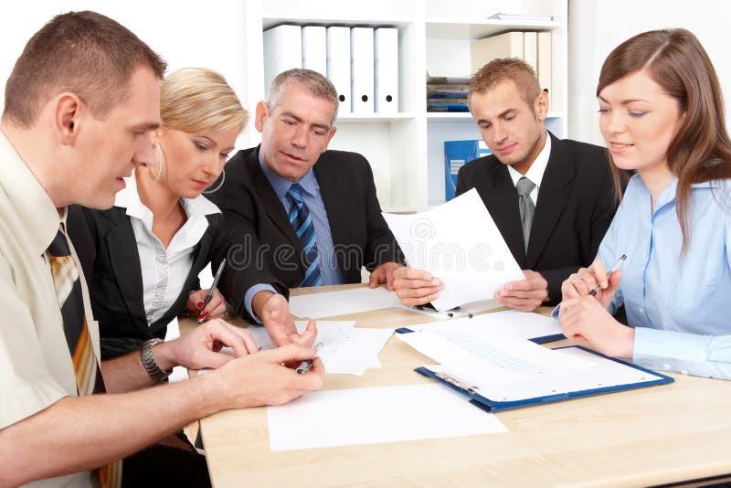 业务组会议 库存照片