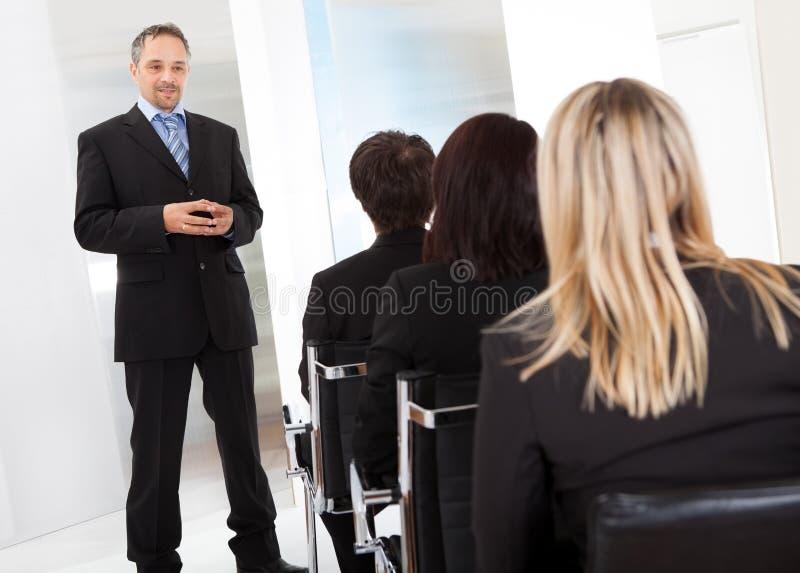 业务组演讲人 免版税库存图片