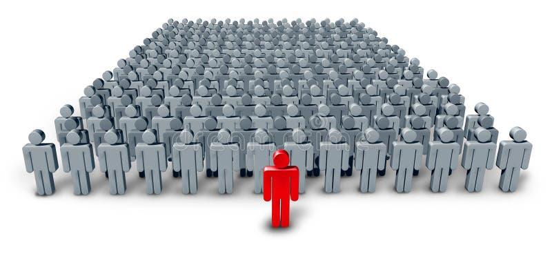 业务组领导先锋 向量例证