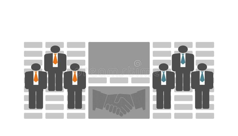 业务联系人 库存例证