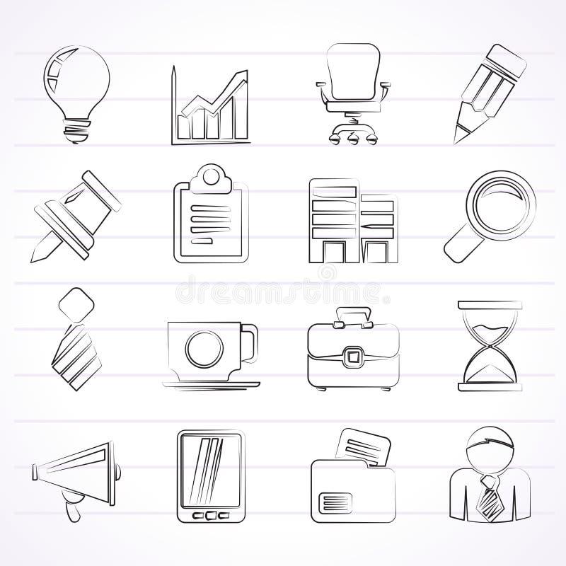 业务设计图标例证办公室向量您 库存例证