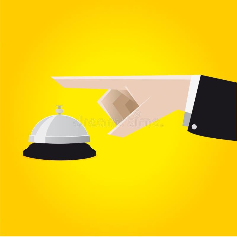 业务通话在有书桌响铃的旅馆 免版税图库摄影