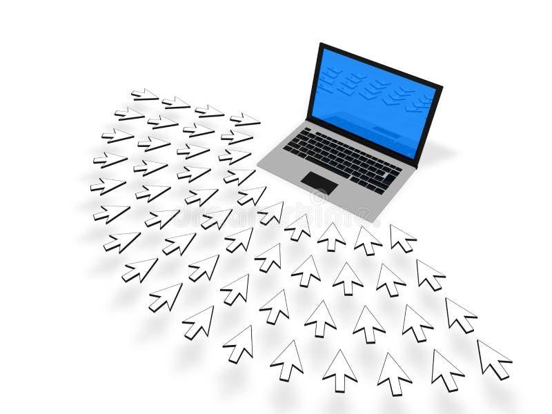 业务量网站 向量例证