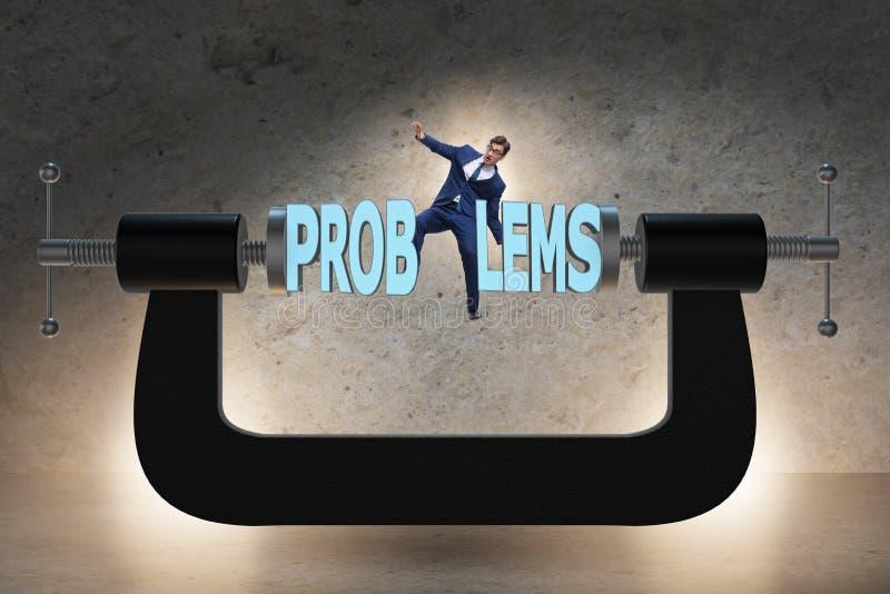 业务问题和挑战概念与商人 免版税库存照片