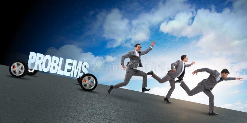 业务问题和挑战概念与商人 免版税图库摄影