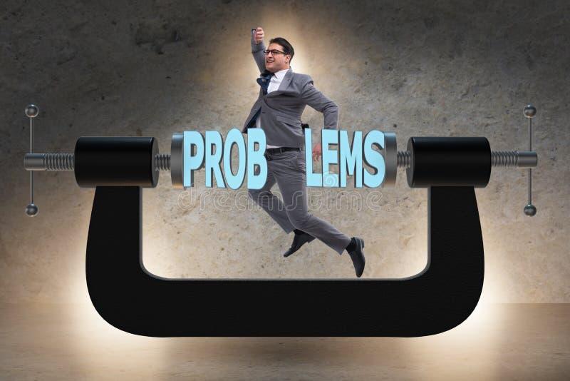 业务问题和挑战概念与商人 图库摄影