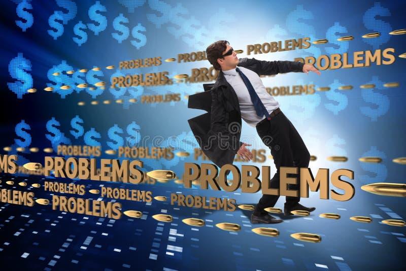 业务问题和挑战概念与商人 库存例证