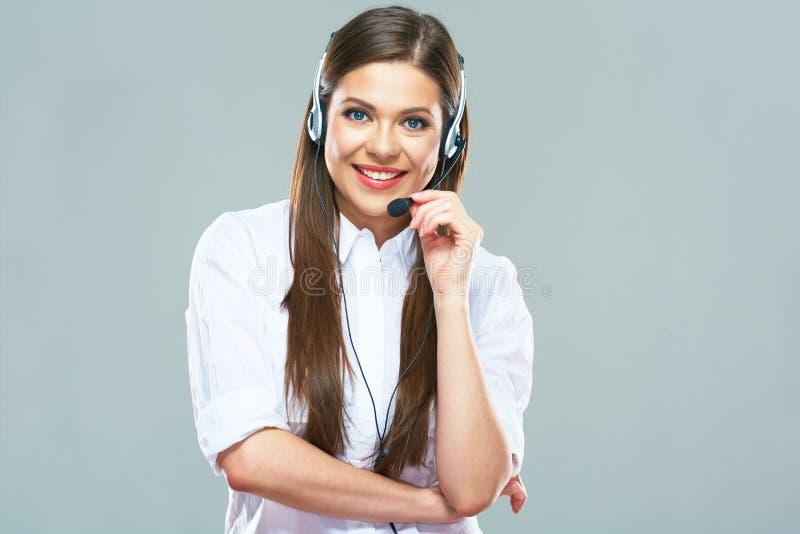 业务顾问,电话中心操作员 图库摄影