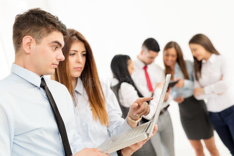 业务组人年轻人 免版税图库摄影