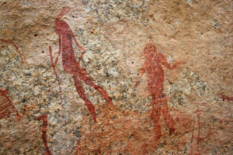 丛林居民绘画岩石 库存图片