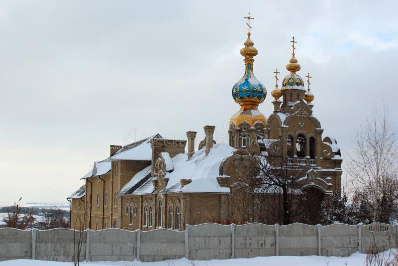 东乌克兰哈尔科夫圣尼古拉斯东正教堂 库存图片
