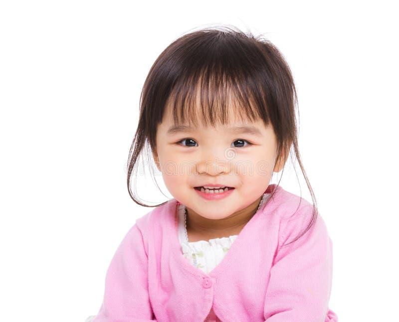 东亚女婴 免版税图库摄影