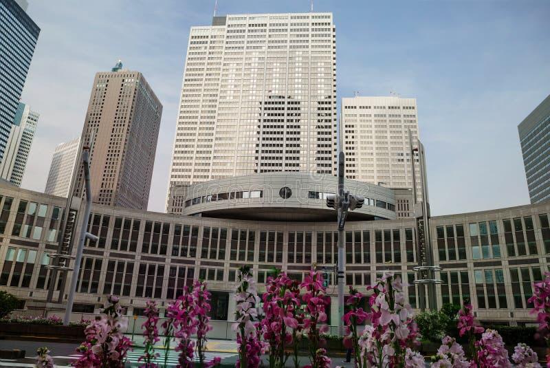 东京专区的政府大楼  免版税图库摄影