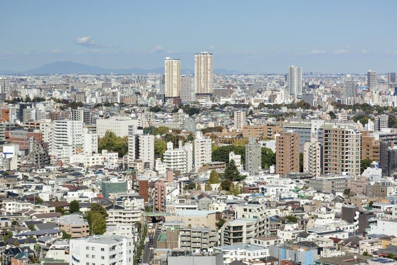 东京从Bunkyo观察台的市视图 免版税库存照片