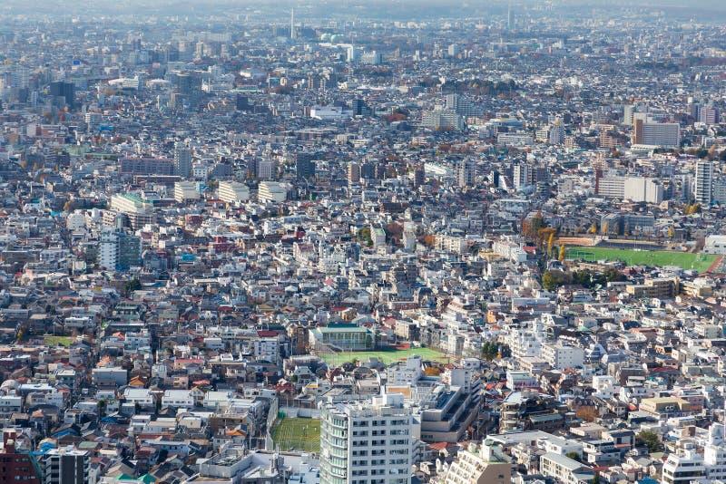 东京住所鸟瞰图拥挤城市,日本