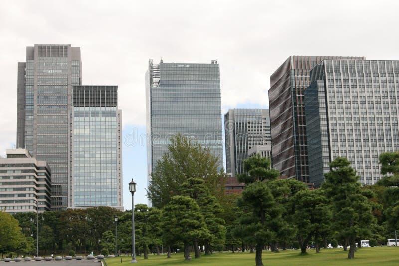东京办公楼 免版税库存图片