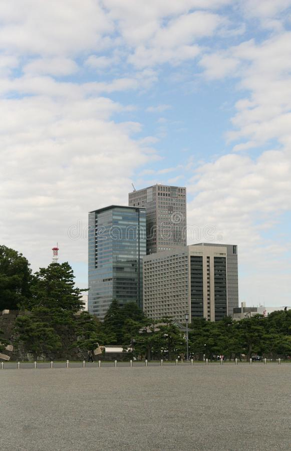 东京办公楼 免版税库存照片
