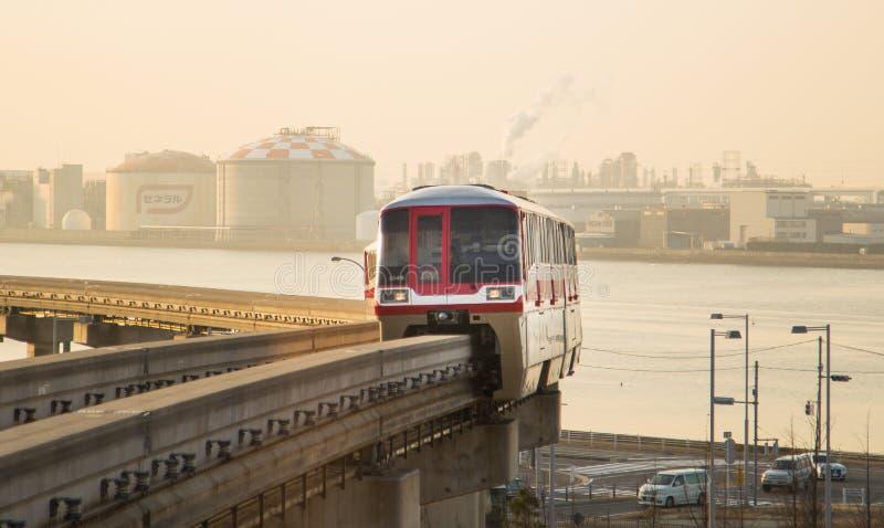 东京单轨铁路车 免版税图库摄影