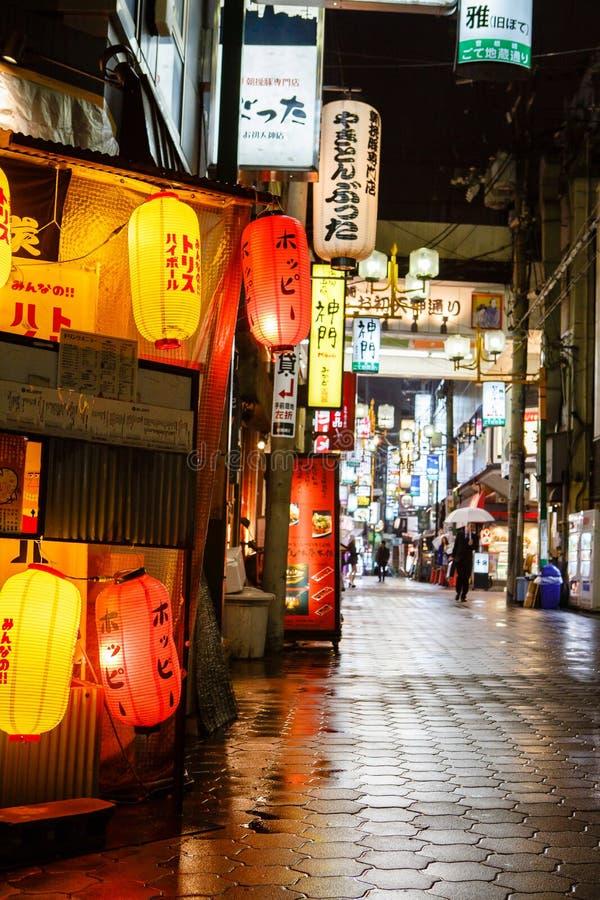 东京夜生活 免版税库存图片