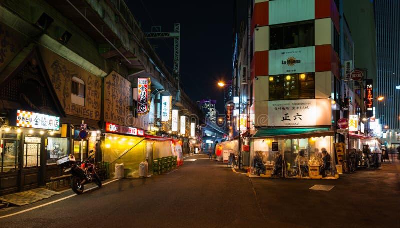 东京夜间食物 免版税库存图片