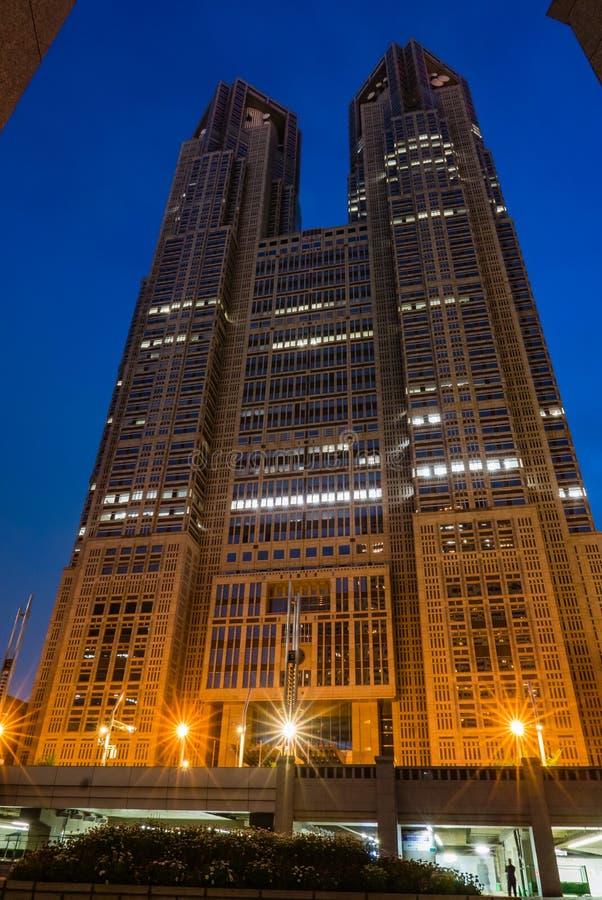 东京大城市政府大厦 免版税库存图片