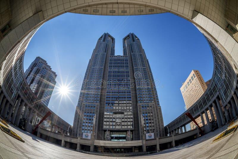 东京大城市政府机关大厦 免版税库存照片