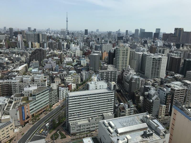 东京市观点 免版税库存照片