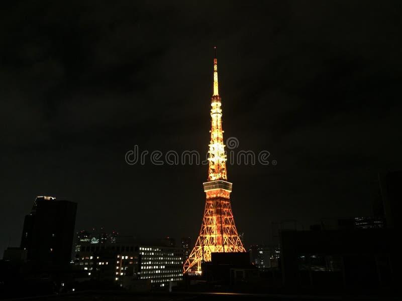 东京耸立被阐明的夜 图库摄影