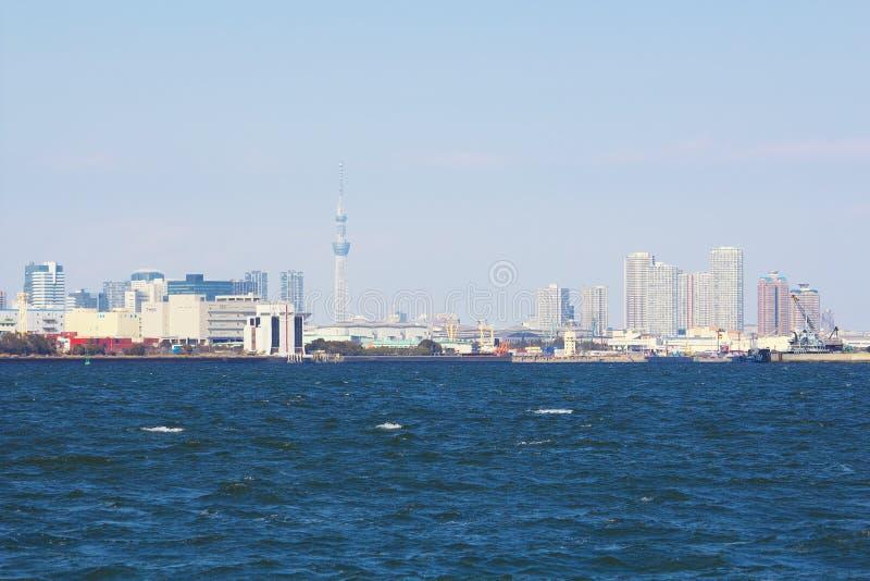 东京,日本城市视图  免版税库存图片