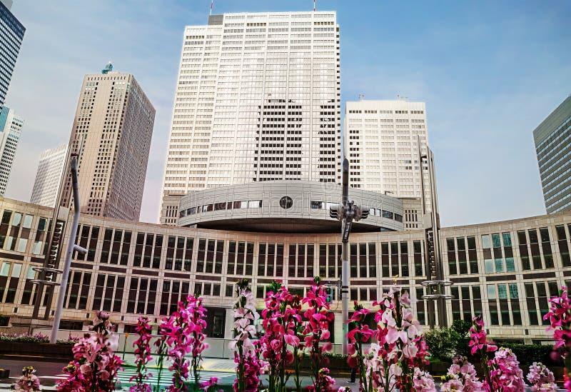 东京,日本, 2017:04 :20东京专区的政府大楼  免版税库存照片
