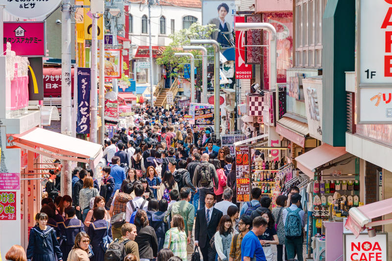 东京,日本:竹下街(竹下Dori) i 图库摄影