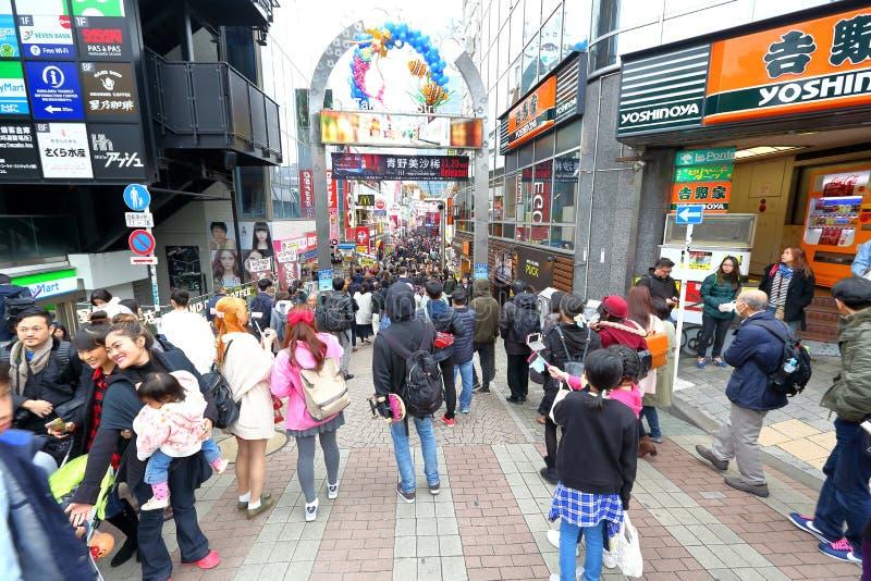 东京,日本:竹下StreetTakeshita Dori 免版税库存照片