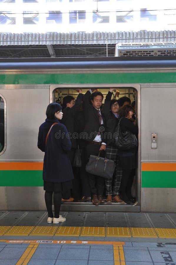 东京,日本:2014年11月13日-人群人旅行 库存图片