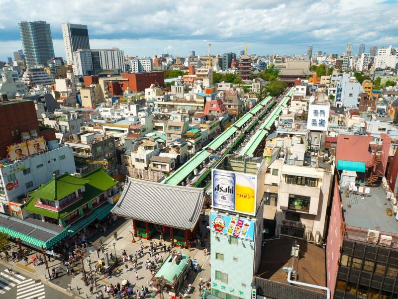 东京,日本 2018年9月8日,美丽的Senso籍寺庙的看法 Senso籍佛教寺庙是浅草的标志在Ja 库存照片