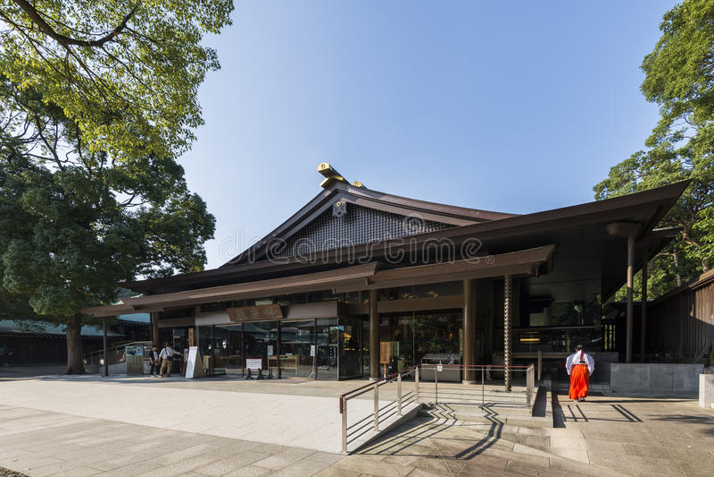 东京,日本- 2016年10月2日:明治神宫,涩谷,东京,日本 免版税图库摄影