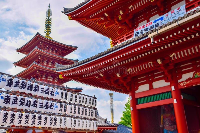 东京,日本4月23日2016年:Sensoji寺庙浅草Kannon寺庙在东京,日本 库存照片