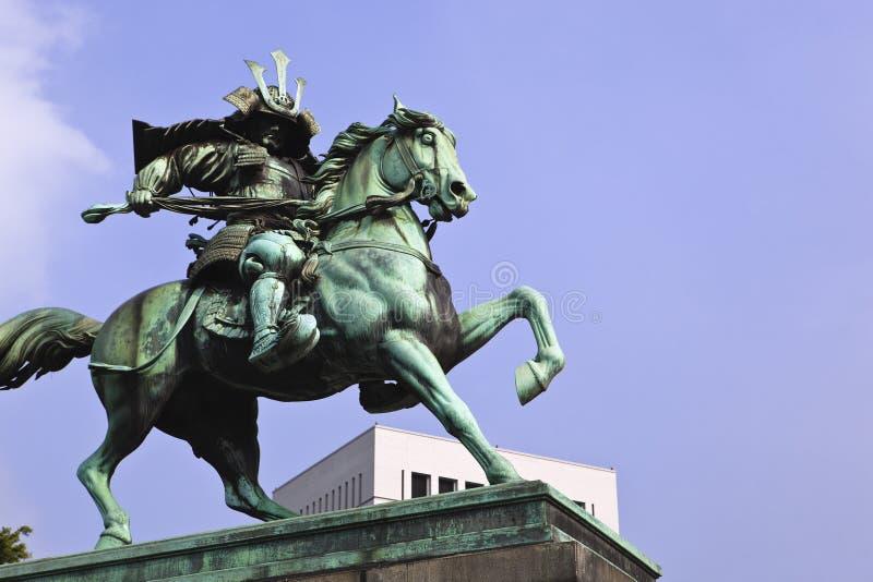 东京: kusunoki masashige雕象  图库摄影