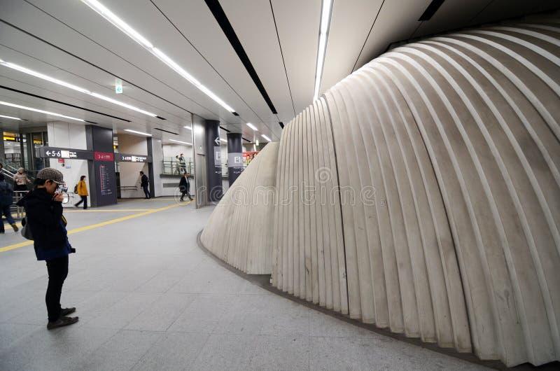 东京- 11月23 :在涩谷驻地的雕塑 免版税库存照片