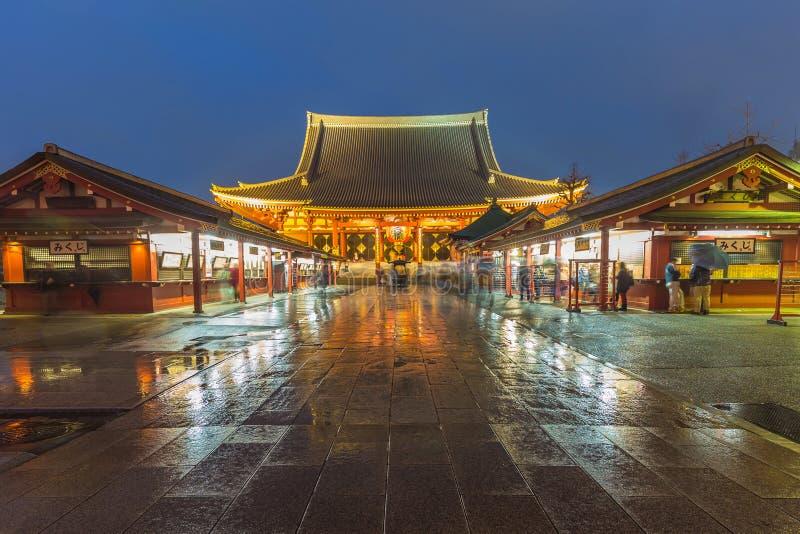 东京- Sensoji籍,寺庙在浅草,日本 免版税库存照片