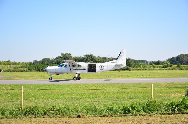 东京Skydiving俱乐部 免版税库存照片