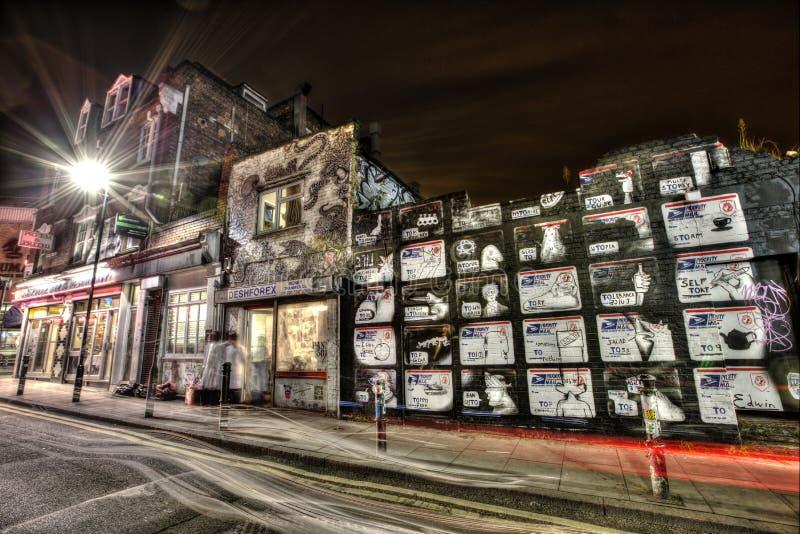 东伦敦街道画 免版税图库摄影