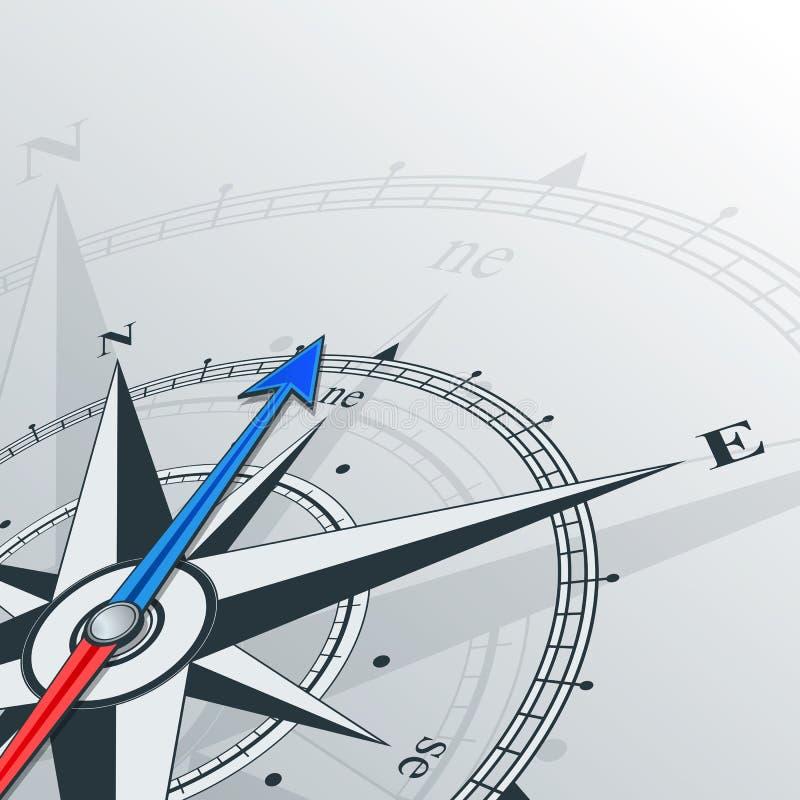 东北的指南针 向量例证