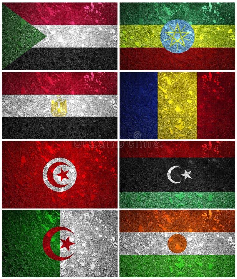东北非洲旗子 向量例证