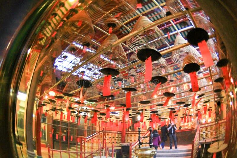 东华三院文武庙,好莱坞Rd, Tai砰单 库存照片